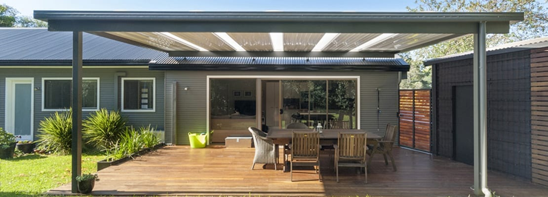 WEST PYMBLE NSW, ALUMINIUM PERGOLA SKILLION WITH COLORBOND ROOF