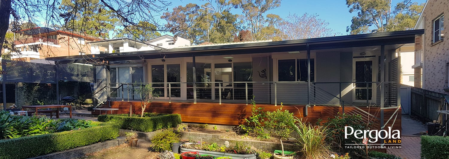 Verandah Hardwood Deck + Insulated Roof Pergola