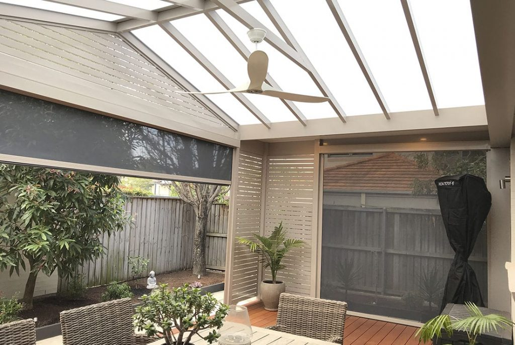 Pergola, deck and Alfresco Outdoor Blinds