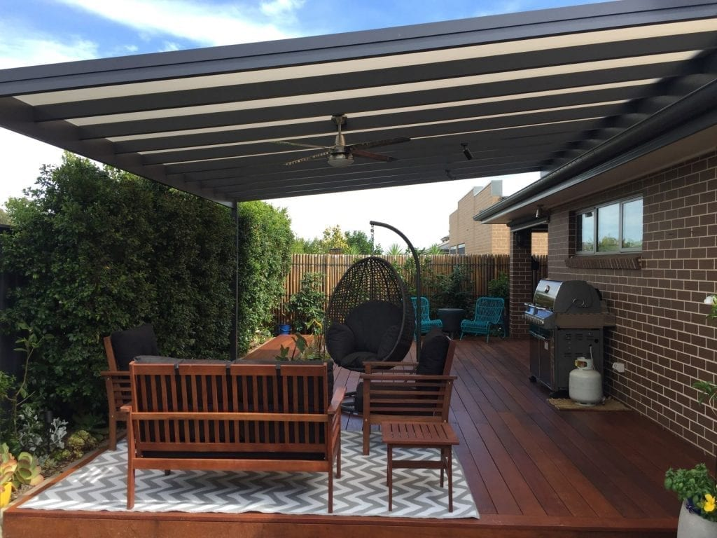 Hardwood Deck and Polycarbonate Pergola